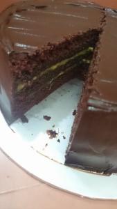 How the cake looks inside